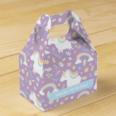 Unicorn Birthday Favors Cute Unicorn Pattern Birthday Party Favor Box