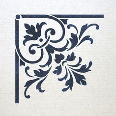 Corner Stencil Reusable Template 025 for Wall por JboutiqueStencils