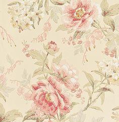 розовые пастельные обои WR8463/4 Sanderson