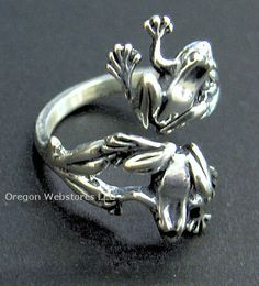 Sterling Double-Frogs Adjustable Ring