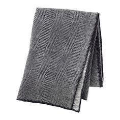 IKEA - STRIMLÖNN, Manta, De pura lana virgen; la manta es suave, mullida al tacto y duradera.