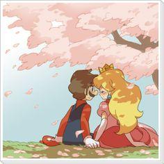 Mario & Peach