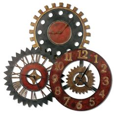 Rusty Movements Wall Clock from overstock = $301
