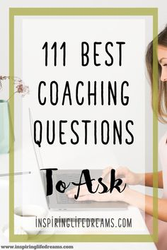 Coaching Quotes + Questions - 111 Perfect Coaching Questions To Ask - - If you're looking for the best questions and coaching quotes to share with your coaching clients, here are 111 best, most perfect coaching questions to ask. Coaching Questions, Life Coaching Tools, Leadership Coaching, Online Coaching, Leadership Quotes, Leadership Development, Business Coaching, Educational Leadership, Leadership Types
