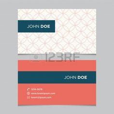 Visitenkarte Vorlage Hintergrundmuster Vektor Design bearbeitet Lizenzfreie Bilder