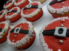 Santa Belly Cupcakes <3