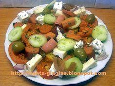 Πρόχειρος μεζές Cobb Salad, Potato Salad, Potatoes, Ethnic Recipes, Food, Potato, Essen, Yemek, Meals
