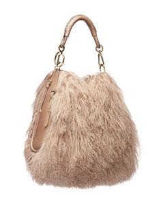 Mongolian Lamb Fur Accessories - this purse could be a redesign from a fur jacket that has just been hanging around