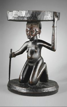 Chokwe Citwamo Ka Kaponya (Chief's Caryatid Stool), Angola