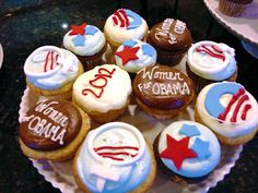 Although they may look and taste better than plain ones, cupcakes that support Obama can't vote. But you can - commit to vote for our President now: http://OFA.BO/zcyERN