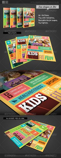 Kids Fitness Camp Flyer Template - Corporate Flyers