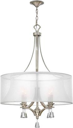 Fredrick Ramond Mime 4-Light Chandelier Brushed Nickel FR45604BNI | LampsUSA
