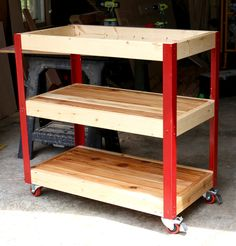 How to build a DIY rolling grill cart - free plans and tutorial! Kitchen storage
