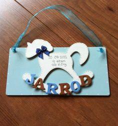 Personalised babies Wooden Hanging Keepsake £6.50