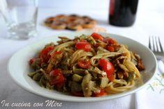 #gialloblogs #ricetta #Spaghetti integrali funghi e carciofi | In cucina con Mire