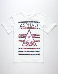 873970c2bef994 ASPHALT YACHT CLUB Cali Bear Delta Lockup Mens T-Shirt - WHITE - 282245150