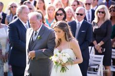 father walks the bride down the aisle