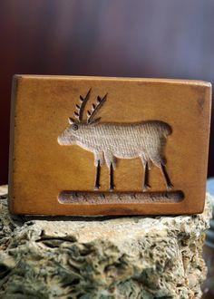 Vintage Reindeer Cookie Mold. $6.00, via Etsy.
