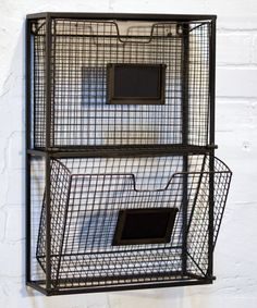 Look at this Black Double File Wall Basket on #zulily today!