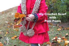 DIY Crochet Scarf wi