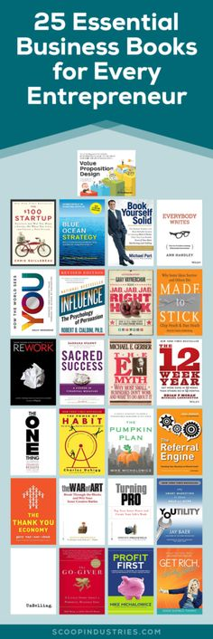 "If you're running your own business you certainly don't have time to run out and get an MBA or take 10 different online courses. Instead, check this list of business books for entrepreneurs. Check out our 25 ""must read"" business book suggestions."