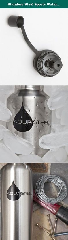 Stainless Steel Sports Water Bottles Wide Mouth by AquaSteel Food Grade 12 oz SILVER. AquaSteel Water Bottles:Quench your thirst with our environmentally friendly Aquasteel stainless steel water bottles from eGeneralMedical Inc., Which now comes in a variety of colors. Aquasteel Water Bottles are made durable by their #304 stainless steel, a material famous for preserving freshness in both the dairy and brewery industries. What makes Aquasteel Water Bottles one of our customer favorites…