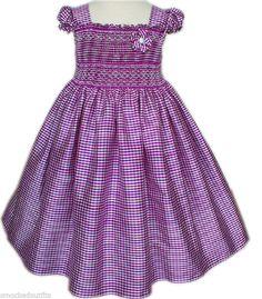 New Light purple girls silk pageant dress hand smocked short sleeve 17254 #Carouselwear #Everyday
