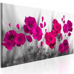 Pink Poppies Diy Wall Painting, Flower Painting Canvas, Canvas Art, Watercolor Trees, Watercolor Artwork, Art Floral, Pink Poppies, Flower Pictures, Painting Art