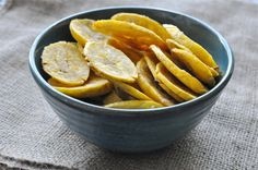 Perfectly baked plantain chips