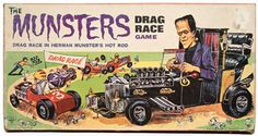 cryptofwrestling: The Munsters Drag Race Game Munsters Tv Show, The Munsters, Munsters Theme, Old Board Games, Vintage Board Games, Gi Joe, Bored Games, Monster Toys, Monster Mash
