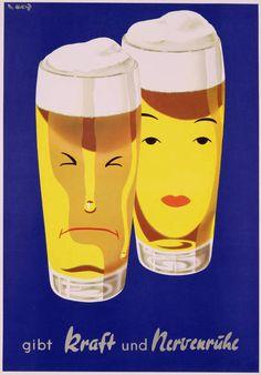 gibt Kraft und Nervenruhe (food art poster)