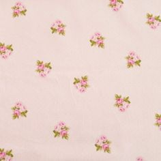 Rose Bouquet Bunched Pink 100% Cotton Half Panama Fabric
