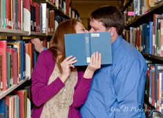 library engagement session