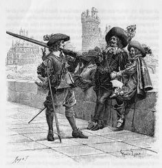 Soldiers using bow, swords and spears in battle, century. Louis Xiv, Types Of Armor, Man Of La Mancha, Thirty Years' War, The Three Musketeers, Cool Books, Ballet, France, Period Dramas