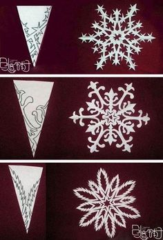 Fancy snowflake patterns (downloaded from Facebook)