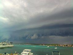 summer storm on island Vir, Croatia