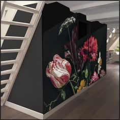 Bedroom Murals, Wall Murals, Large Floral Wallpaper, Fruit Cakes, Glam Room, All Wall, Wall Treatments, Chinoiserie, Flower Vases