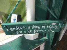 een tuinspreuk
