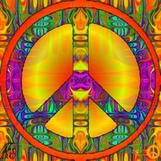 Peace Sign Art ✌❤ Hippie Peace, Happy Hippie, Hippie Love, Hippie Style, Peace On Earth, World Peace, Peace Love Happiness, Peace And Love, Peace Sign Art