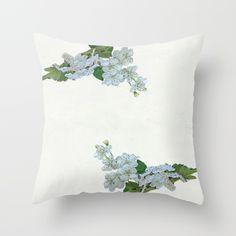 Notes on a Spring Throw Pillow#society6 #spring