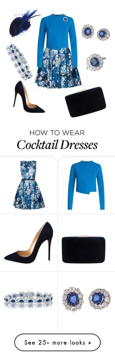 """True Blue"" by nmccullough on Polyvore featuring Roland Mouret, Christian Louboutin and Kayu"