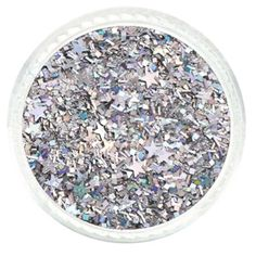 Silver Starry Night Custom Mixed Glitter – Solvent Resistant Glitter from Glitties Nail Art Online Store #solvent #resistant #glitter