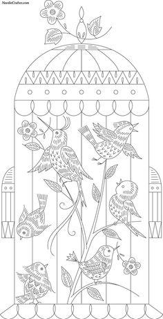 Oiseaux en cage fantaisie 921