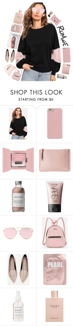 """""""Romwe contesttt"""" by puhizaxox ❤ liked on Polyvore featuring Neutrogena, French Girl, NARS Cosmetics, LMNT, Lapcos, Herbivore and Gucci"""
