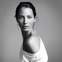 Christy Turlington for V MAGAZINE. Christy wears Diamond Pavé Sticks with American Cultured Pearl Earrings   fashion carlyne cerf de dudzeele  Makeup Jeanine Lobell  Hair Christiaan