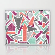 Patterned Arrows Laptop & iPad Skin by Rosie Simons - $25.00
