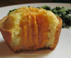 Sweet cornbread muffins stuffed with creamy sweet potatoes are surprisingly delicious. Brown Sugar Sweet Potatoes, Sweet Potato Dishes, Salmon And Sweet Potato, Mashed Sweet Potatoes, Sweet Cornbread Muffins, Jiffy Cornbread, Sweet Potatoes With Marshmallows, Cooking Bread, Corn Bread