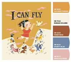 Color Inspiration: 8 Kids Room Paint Palettes Based on Classic Children's Books