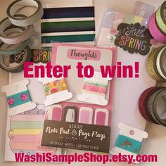 """Last chance drawing in less then 30 min!! Weekend giveaway!  Enter to win:  1. Repost and Tag @washisampleshop  2. Tag two friends  Bonus:  Purchase from my shop and comment """"Instagram giveaway"""" for TWO bonus entries!  Rules: Only enter once per day Must Tag a different friend each day  Profile must be public No Giveaway accounts (If all you do is repost giveaways your a giveaway account)  Drawing will go on until @3pm EST on 3/21 Winner will be announced on IG  #planner #planners #planning…"""