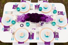 Purple Ombre Wedding Ideas purple and teal